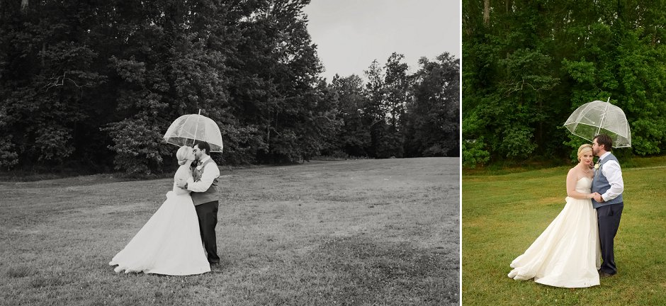 37 Nirvana Gardens Wedding Albertville rainy umbrella wedding