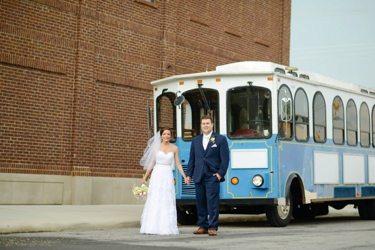 44 florence al wedding trolley pictures