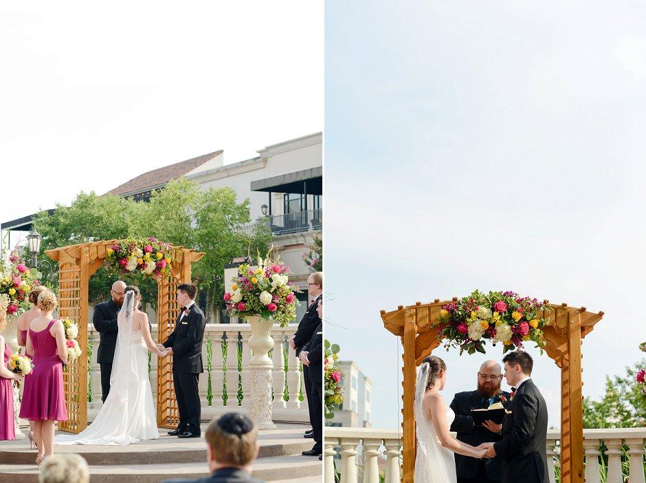 31 westin huntsville wedding photographer courtyard ceremony
