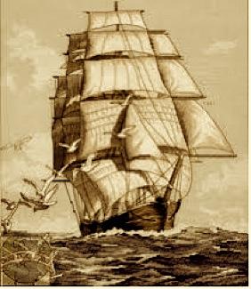 CLIPPER SHIP SEPIA TONE