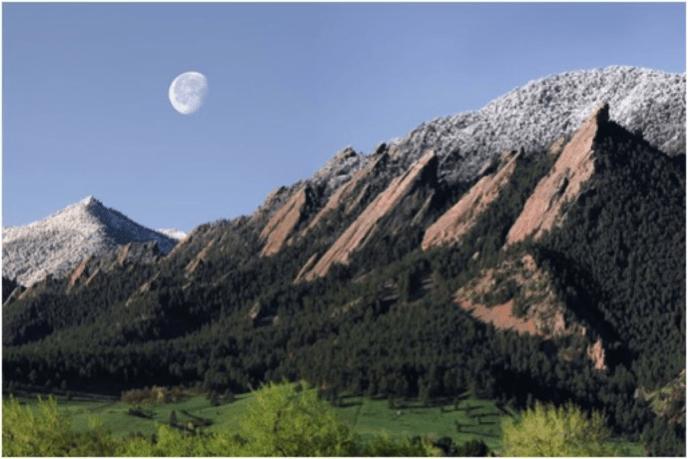 Flatirons - Moonset