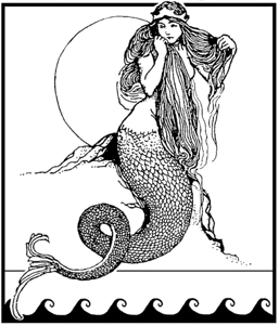 MERMAID B&W CROPPED