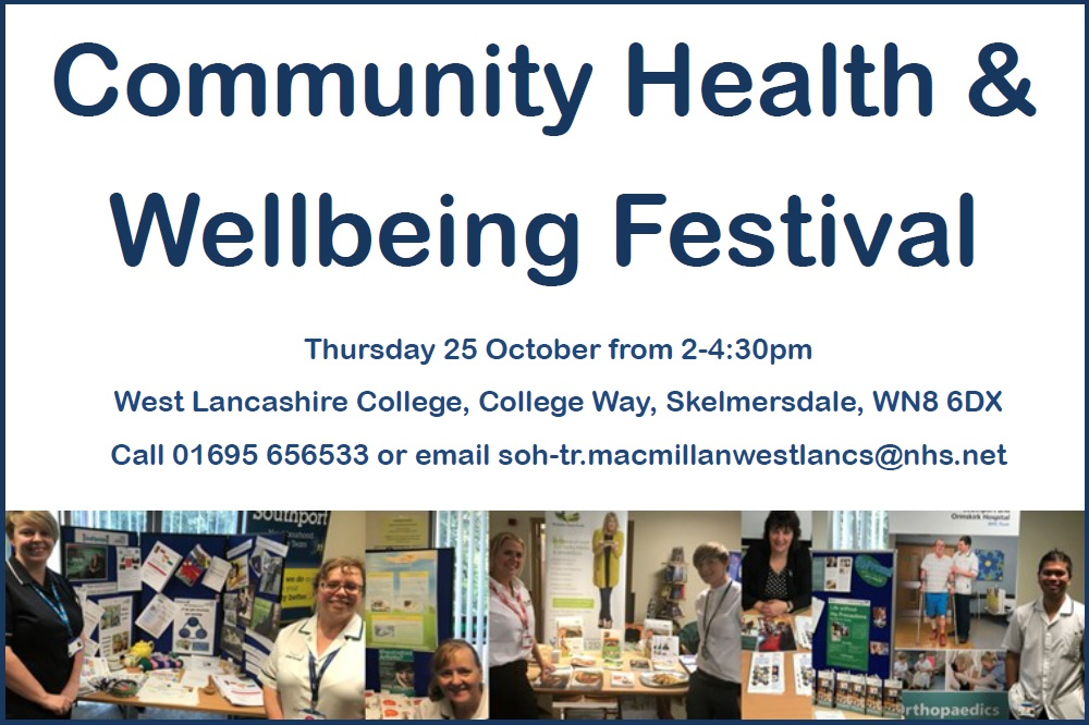 Community health and wellbeing festival 2018, Macmillan Cancer support