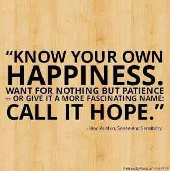 Know your own happiness