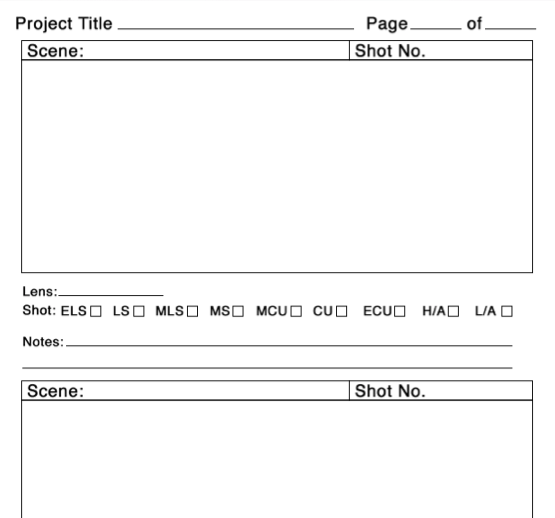 Story board template, filmmaking, filmmaker, moonhead films, indiefilm, template,