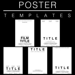 Film Poster Templates, Adobe Photoshop, Adobe InDesign, Adobe Illustrator