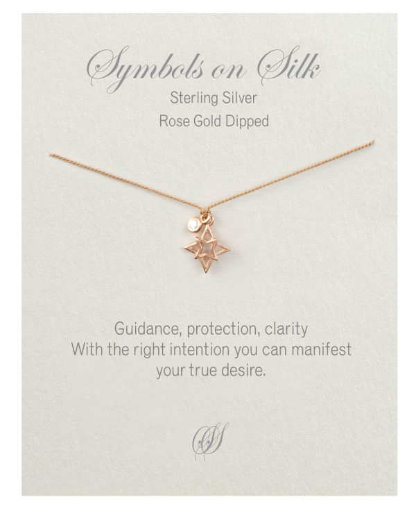 Open Star Necklace Rose