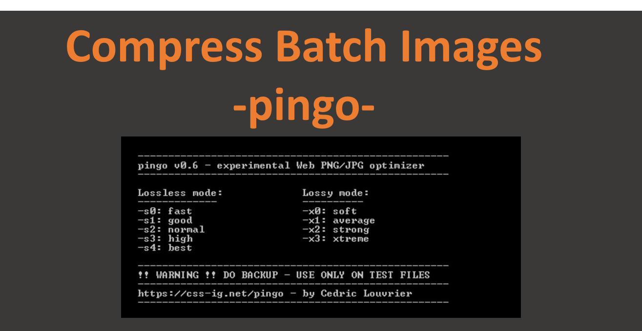 Pingo: Command line program to compress batch images