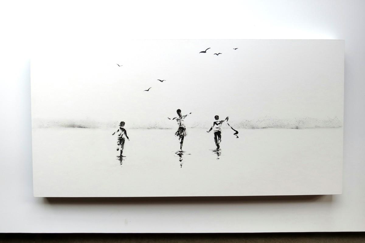 32 Play free, free play (2015) 40 x 80 cm