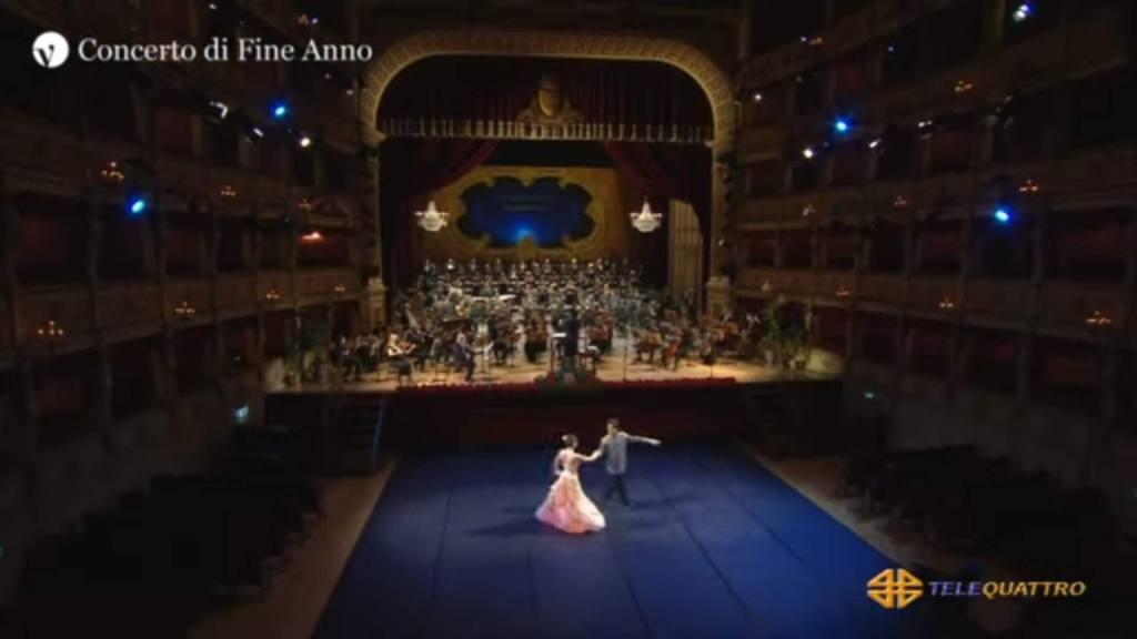 I ballerini al concerto di fine anno del teatro Verdi di Trieste
