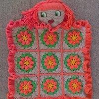 Red-head 'Look over me' lovey blanket.