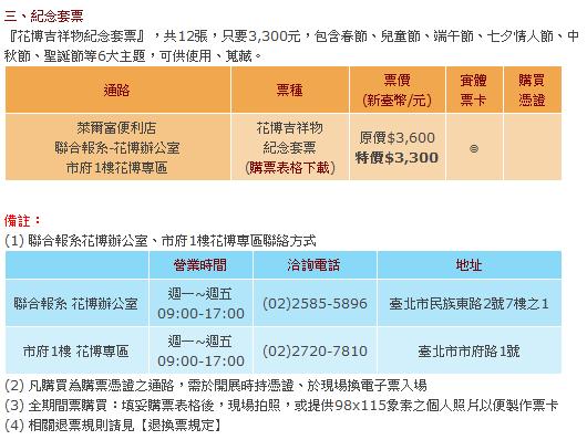 2010花博門票多少錢