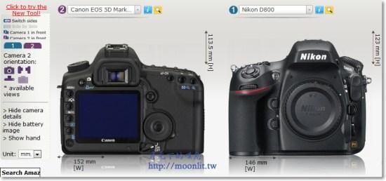 相機比較網站 尺寸一眼可見 Camera Size