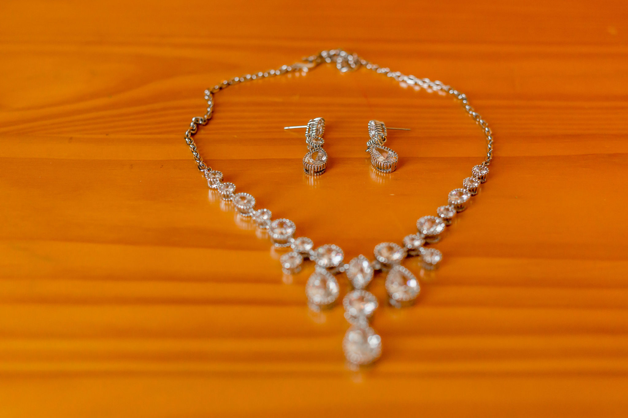 Jamie wedding necklace and earrings