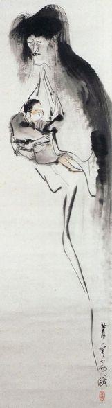 Kosodate Yūrei, from the meiji period by Yasuda Beisai