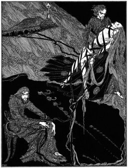 "Illustration for Edgar Allan Poe's story ""Berenice"" by Harry Clarke (1889-1931), published in 1919."