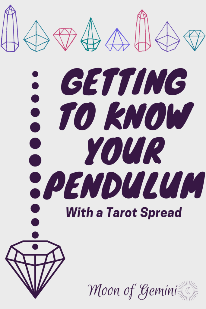 Getting to know your pendulum with a 7-card tarot spread