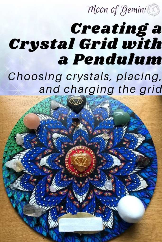 using a pendulum to create a crystal grid and charge it