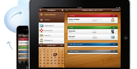 好用的手機記帳軟體 Bills ~ on your table HD