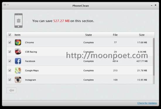 iphone空間不夠用 PhoneClean 幫您一鍵整理