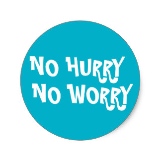 Image result for no hurry