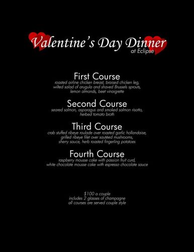 Impress Your Valentine With Dinner For 2 At Eclipse Restaurant