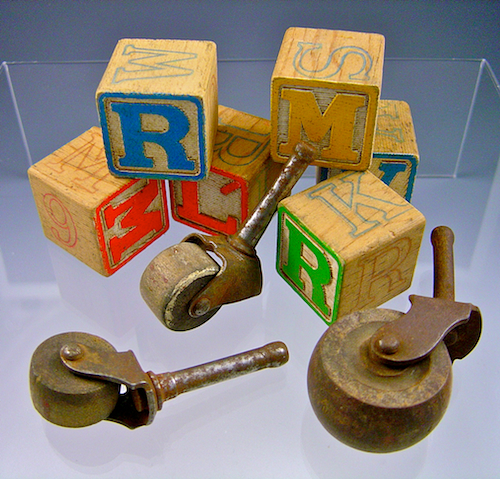 Wood blocks and casters