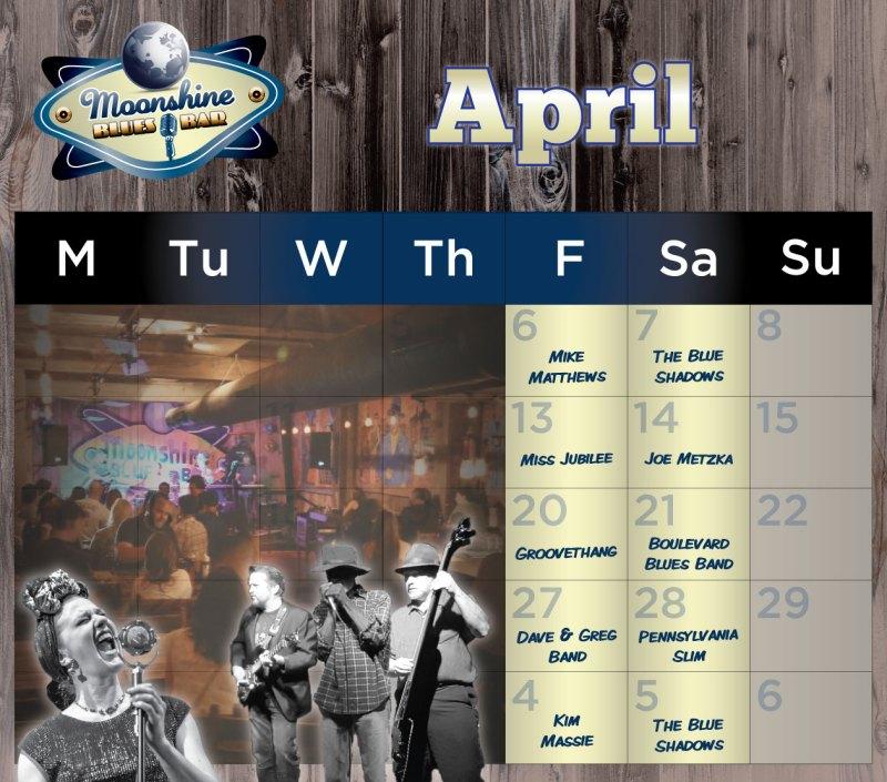 Moonshine Performance Calendar - April 2018