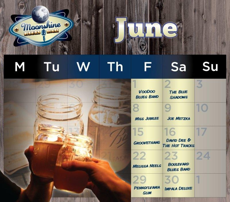 Moonshine Performance Calendar - June 2018
