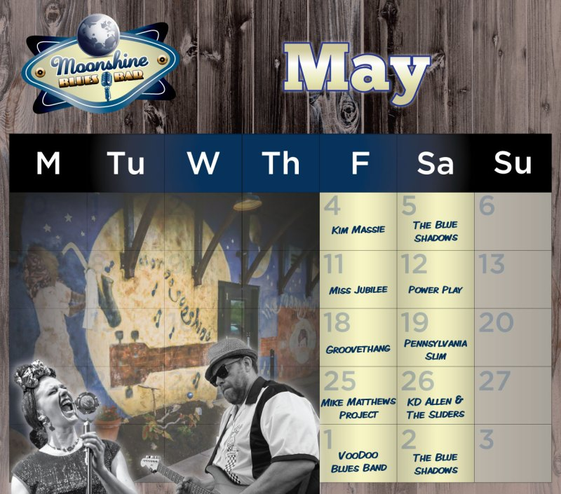 Moonshine Performance Calendar - May 2018