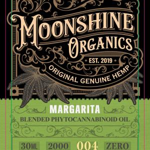 Moonshine Organics Craft Cocktail Collection Margarita Label