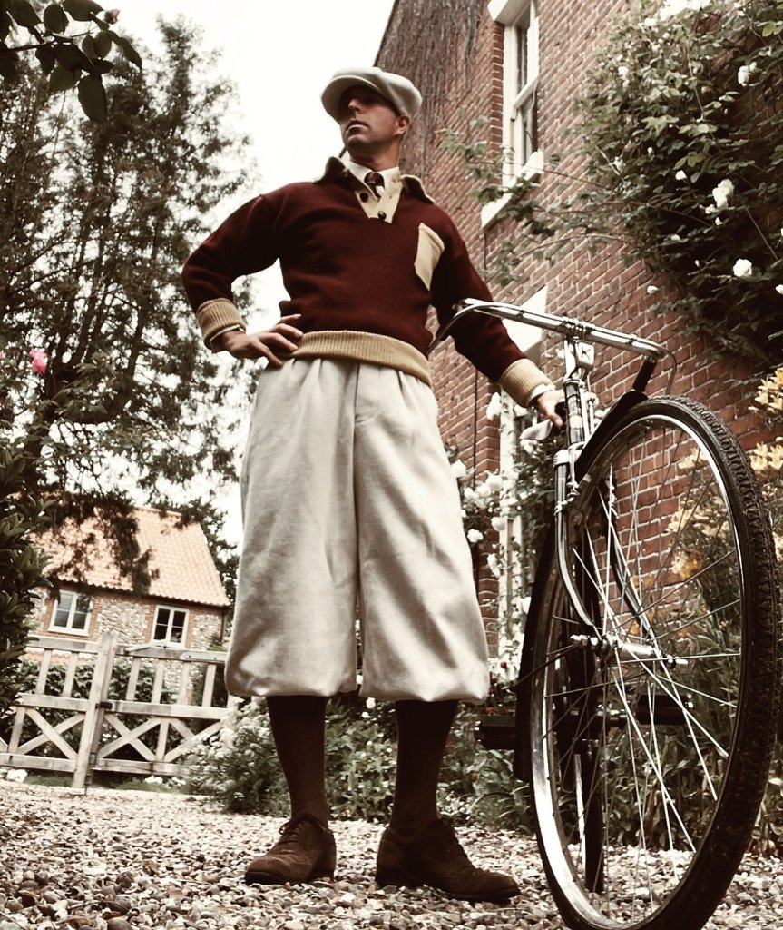 Pull 1920s Biker Red/Yellow oldfield clothing