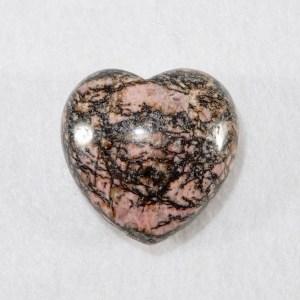 Rhodonite Puffed Heart