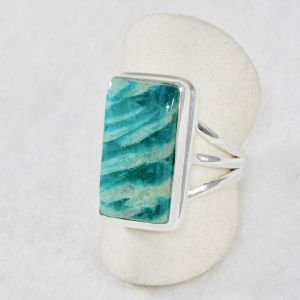 Amazonite Rectangle Ring - Size 7