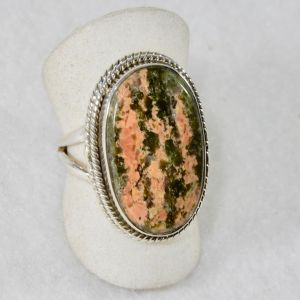 Unakite Oval Ring Roping Size 7.5
