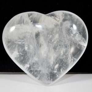Clear Quartz Medium Puffed Heart Devic Temple Crystal
