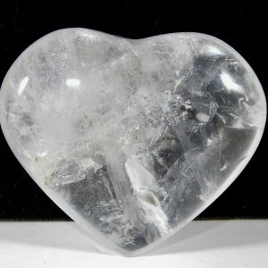 Clear Quartz Small Puffed Heart Devic Temple Crystal