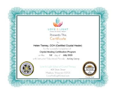 Crystal Healing Certification - Helen Tierney