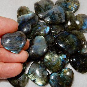 Labradorite Tiny Hearts
