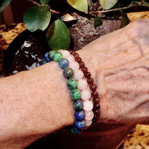 Chrysocolla Rose Garnet Bracelets