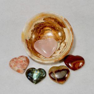 Onyx Bowl Hearts