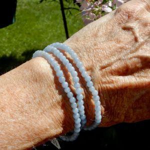 Angelite 4mm bracelets