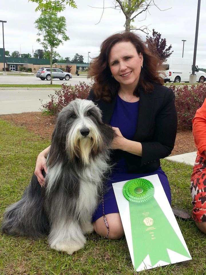 Scarlett and Casey  Owner Handled Best In Show MBKC 4/26/15