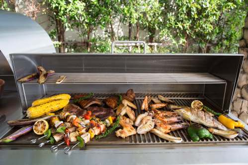 BBQ prepared at Moonstone Villa, a luxury and private 6 bedroom beach front villa located in Plai Laem, Koh Samui, Thailand
