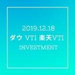 20191218NYダウとVTIと楽天VTI