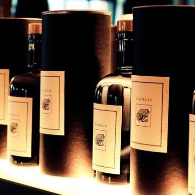 MOORGIN - Gin aus Kolbermoor Bottles at the bar
