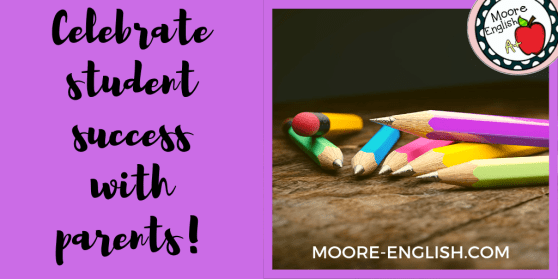 Sharing Student Data with Parents moore-english.com #moore-english