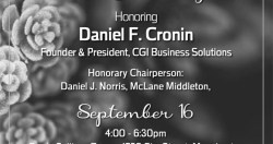 20th Annual Garden Party to Honor  Daniel F. Cronin of CGI Business Solutions