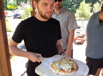Jon and his fancy pizza