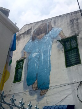 """Little Girl in Blue"" by Ernest Zacharevic (on Lebuh Muntri)"